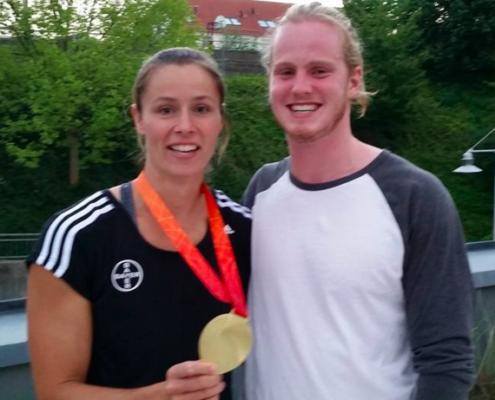 Jack with World Champion Jav Thrower Katharina Molitor